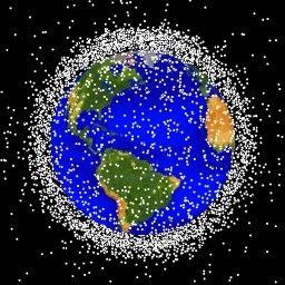 Diagram of satellites around Earth